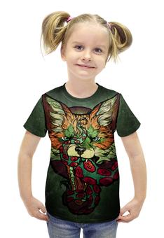 """Футболка с полной запечаткой для девочек """"Fox001"""" - арт, рисунок, fox, лиса"""
