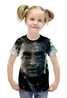 """Футболка с полной запечаткой для девочек """"Harry Potter"""" - гарри поттер, приключения, волшебник, рэдклифф"""