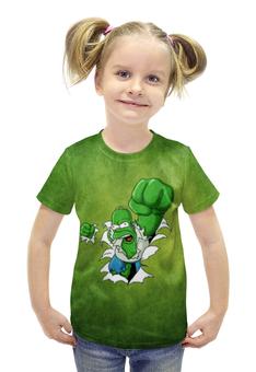 """Футболка с полной запечаткой для девочек """"Гомер Симпсон (Халк)"""" - hulk, гомер симпсон, халк, homer simpson"""