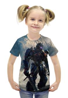 """Футболка с полной запечаткой для девочек """"Трансформеры / Transformers"""" - комикс, рисунок, кино, роботы, трансформеры"""
