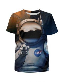 """Футболка с полной запечаткой для девочек """"We need you!"""" - космос, nasa, наса, наука, астроном"""