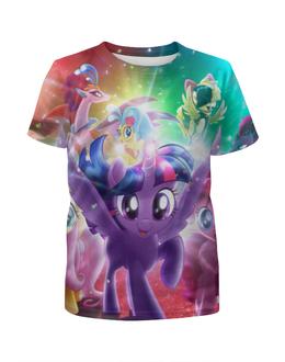 """Футболка с полной запечаткой для девочек """"Мой маленький пони"""" - my little pony, пони, мульт"""