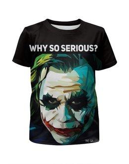"""Футболка с полной запечаткой для девочек """"Джокер"""" - джокер, бэтмен, dc, хит леджер, suicide squad"""