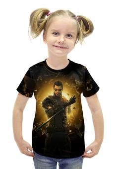 """Футболка с полной запечаткой для девочек """"Deus Ex"""" - арт, deus ex"""