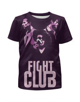 """Футболка с полной запечаткой для девочек """"Бойцовский Клуб (Fight Club)"""" - бойцовский клуб, fight club, марла, питт, нортон"""