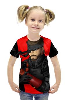 """Футболка с полной запечаткой для девочек """"Big Boss (Metal Gear Solid)"""" - metal gear, solid snake, big boss"""