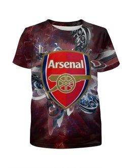 """Футболка с полной запечаткой для девочек """"Арсенал (Arsenal)"""" - arsenal, арсенал"""