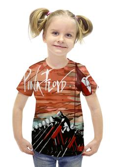 """Футболка с полной запечаткой для девочек """"Pink Floyd"""" - пинк флойд, pink floyd"""