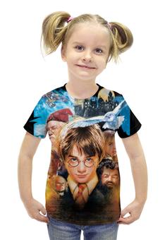 """Футболка с полной запечаткой для девочек """"Гарри Поттер"""" - harry potter, приключения, волшебник, рэдклифф"""