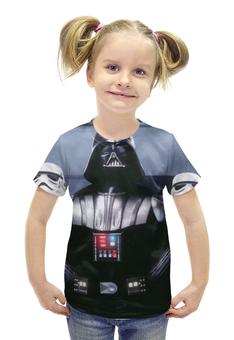 """Футболка с полной запечаткой для девочек """"Дарт Вейдер (Звездные Войны)"""" - star wars, darth vader, stormtrooper, lord sith"""
