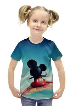 """Футболка с полной запечаткой для девочек """"Микки Маус"""" - микки маус, mickey mouse"""