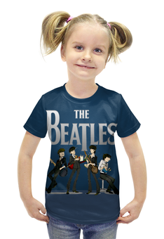"""Футболка с полной запечаткой для девочек """"The Beatles """" - битлз"""