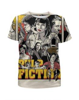 """Футболка с полной запечаткой для девочек """"Pulp Fiction , Криминальное чтиво"""" - криминальное чтиво, pulp fiction"""