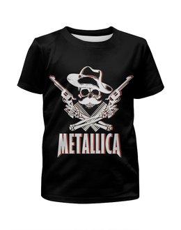 """Футболка с полной запечаткой для девочек """"Metallica"""" - heavy metal, metallica, металлика, хэви метал, thrash metal"""