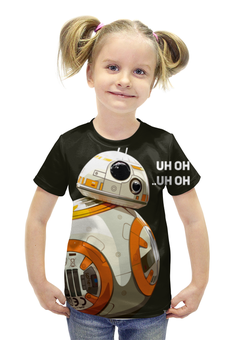 """Футболка с полной запечаткой для девочек """"BB-8 (дройд)"""" - star wars, звездные войны, пробуждение силы, bb8, вв8"""