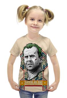 """Футболка с полной запечаткой для девочек """"Bruce Willis"""" - арт, кино, bruce willis, актёр, брюс уиллис"""