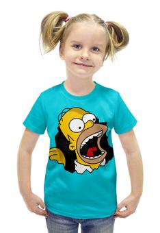 """Футболка с полной запечаткой для девочек """"Гомер Симпсон"""" - simpsons, homer, прикольные, гомер симпсон, симпспоны"""