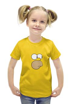 """Футболка с полной запечаткой для девочек """"Гомер и пончик"""" - simpsons, симпсоны, кофе, пончики"""