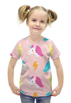 """Футболка с полной запечаткой для девочек """"Единорог"""" - животные, лошадь, пони, мифы, единорог"""