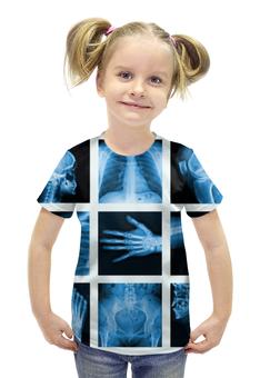"""Футболка с полной запечаткой для девочек """"X-Ray Of Bones"""" - арт, стиль, дизайн, фотография"""