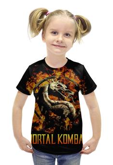 """Футболка с полной запечаткой для девочек """"Mortal Kombat"""" - игры, фантастика, mortal kombat, mk, мортал комбат"""