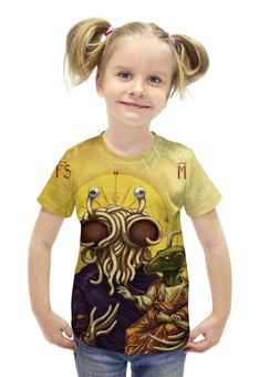 """Футболка с полной запечаткой для девочек """"Пастафарианство / Pastafarianism"""" - рисунок, религия, летающий макаронный монстр, пастафарианство"""