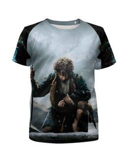 """Футболка с полной запечаткой для девочек """"Хоббит"""" - воин, властелин колец, hobbit, lord of the rings, бильбо"""