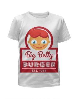 """Футболка с полной запечаткой для девочек """"Big Belly Burger"""" - big belly burger"""