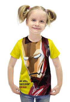 """Футболка с полной запечаткой для девочек """"Iron Man"""" - marvel, мстители, железный человек, тони старк, первый мститель"""