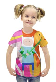 """Футболка с полной запечаткой для девочек """"Время приключений / Adventure Time"""" - арт, рисунок, время"""