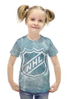 """Футболка с полной запечаткой для девочек """"НХЛ (NHL)"""" - nhl, нхл"""