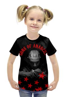 """Футболка с полной запечаткой для девочек """"SONS OF ANARCHY!!!"""" - пистолет, звезда, sons of anarchy, сыны анархии, soa"""