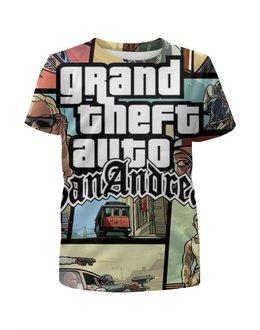 "Футболка с полной запечаткой для девочек ""Grand Theft Auto San Andreas"" - grand theft auto, gta, гта, gta sa, san andreas"
