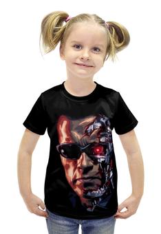 """Футболка с полной запечаткой для девочек """"Terminator"""" - терминатор, terminator, арнольд шварценеггер, the terminator"""