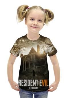 """Футболка с полной запечаткой для девочек """"Resident Evil 7"""" - серия, resident evil, biohazard, re, re7"""
