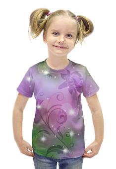 """Футболка с полной запечаткой для девочек """"Лилия"""" - цветок, лилия"""