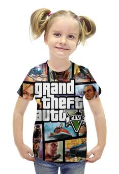 """Футболка с полной запечаткой для девочек """"Grand Theft Auto"""" - grand theft auto, gta, rockstar north"""