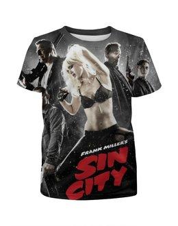 """Футболка с полной запечаткой для девочек """"Город грехов / Sin city"""" - рисунок, кино, город грехов"""