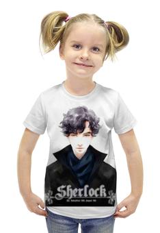 """Футболка с полной запечаткой для девочек """"Sherlock Holmes"""" - новый год, sherlock, шерлок, 2016, бенедикт камбербэтч шерлок холмс"""