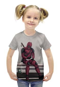 """Футболка с полной запечаткой для девочек """"Deadpool"""" - marvel, deadpool, марвел, дэдпул, wade wilson"""
