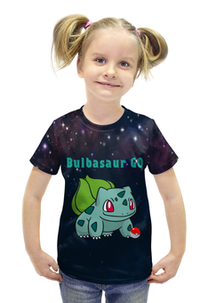 """Футболка с полной запечаткой для девочек """"PoKeMon  Bulbasaur"""" - pokemon, покемон, bulbasaur, бульбазавр, травяной"""