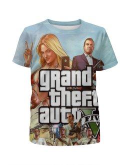 """Футболка с полной запечаткой для девочек """"Grand Theft Auto V"""" - gta5, gta v"""