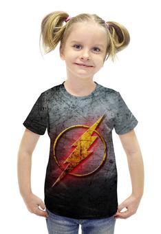 """Футболка с полной запечаткой для девочек """"Флэш (The Flash)"""" - flash, молния, флэш"""