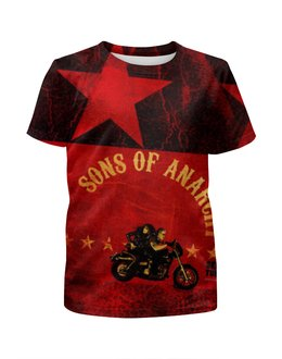"""Футболка с полной запечаткой для девочек """"Sons of Anarchy"""" - сериалы, sons of anarchy, сыны анархии"""