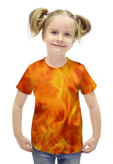 """Футболка с полной запечаткой для девочек """"FIRE ON FIRE"""" - арт, стиль, дизайн, фотография"""