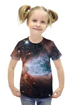 """Футболка с полной запечаткой для девочек """"Deep Space / Глубокий космос"""" - space, космос, вселенная, наука, галактика"""