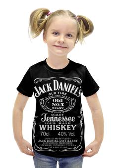 """Футболка с полной запечаткой для девочек """"Jack Daniels"""" - алкоголь, виски, whiskey, alcohol, jack daniels"""