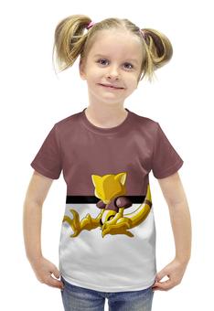 """Футболка с полной запечаткой для девочек """"Покемон Абра """" - pokemon, покемон, абра, abra"""