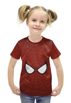 """Футболка с полной запечаткой для девочек """"Человек-паук"""" - spider-man, человек-паук"""