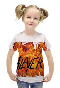 """Футболка с полной запечаткой для девочек """"Slayer Repentless 2015 (3)"""" - музыка, рок, металл, slayer, thrash metal"""